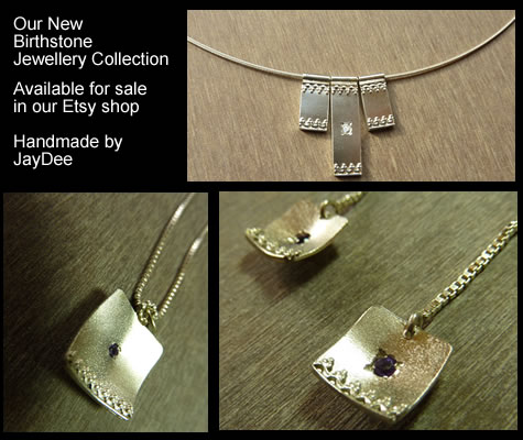 Handmade Silver Jewellery with Birthstones