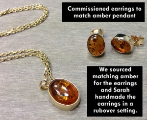 amber earrings to match pendant