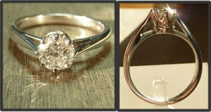 win diamond solitaire ring in competition