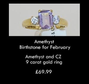 amethyst CZ ring