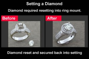 replace missing diamond in ring