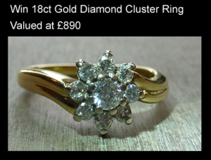 Win diamond cluster ring