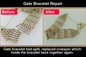 gold bracelet jewellery repair