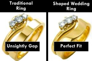 shaped wedding band