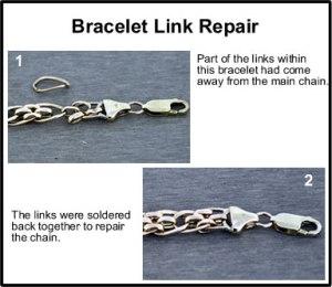 gold bracelet repair