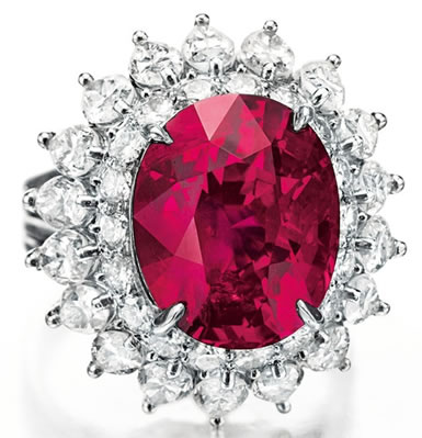 cartier ruby diamond ring