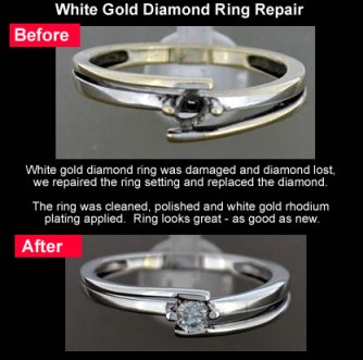 diamond replaced white gold ring