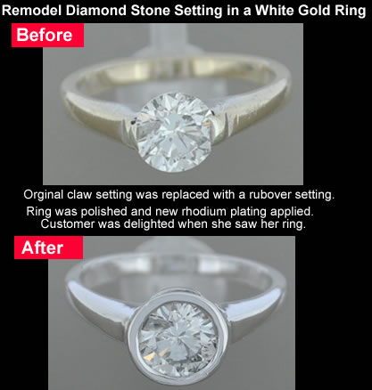 diamond stone setting replaced