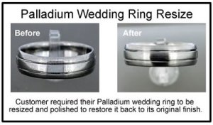 palladium wedding ring resizing