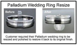 palladium wedding ring resizing