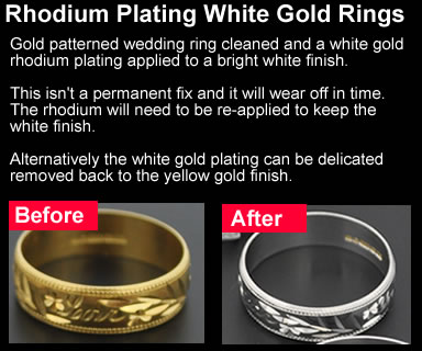 Yellow gold ring to white gold