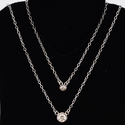 diamond white gold necklace