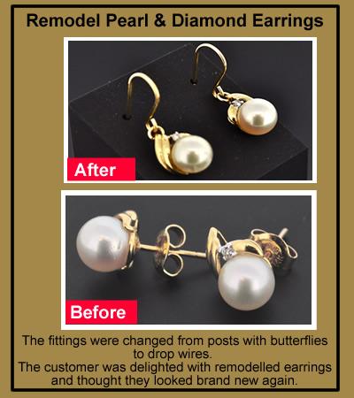 pearl earring remodel